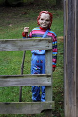 Made You Look (Doris Burfind) Tags: people halloween children portrait scary mask