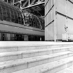 Urban Solitude - Leaving the Station (ucn) Tags: rolleiflexsl66 agfacopexrapid berlin distagon50mmf4 street hauptbahnhof tiergarten centralstation filmdev:recipe=11958 adoxadoluxatm49 developer:brand=adox developer:name=adoxadoluxatm49