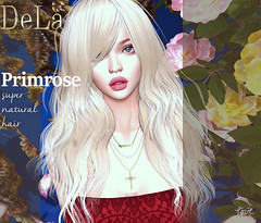 """=DeLa*= new hair """"Primrose"""" (=DeLa*=) Tags: dela hair bento fitted rigged mesh materials new secondlife secondlifefashion sl slhair style tres chic"""