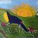 """Paradise of Birds"" by Millie B, acrylic, $80.00"
