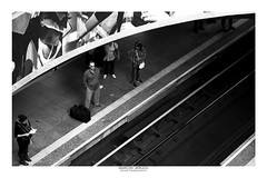 [ Subway ] (Marcos Jerlich) Tags: subway platform station light people urban interior indoor contrast architecture lines concrete bnw blackandwhite bw noiretblanc monochrome mono sãopaulo sé brasil october canon canont5i canon700d efs1855mm marcosjerlich