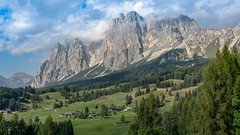 Dolomites Splendar (Sworldguy) Tags: a73 camera sonya73 dolomites italy forest clouds trees landscape wideangle fields mountainpeaks valley alpine northernitaly holiday travelphotography vista nature rocky italia slopes