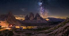 Milky Way over the Three peaks (19MilkyWay89) Tags: landscape night milky way dark italy dolomites darkness three peaks tre cime drei zinnen