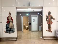 Airport restrooms, Venezia, Italy. (vittorio vida) Tags: venezia venice italy airport carnevale carnival arlecchino colombina toilets