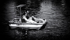 The Date (M. Nasr88) Tags: blackwhite canada city d750 digital monochrome montreal nikon oldport quebec streetphotography street travel urban summer fun boat date couple people