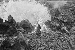 Lava Blowhole La Perouse Bay i 078.bw (doug.h.butler) Tags: maui laperousebay lava blowhole ocean waves lavaflow blackandwhite bw landscape
