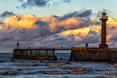 After The Rain (peterwilson71) Tags: clouds exposure reflections flow harbour horizon sky light landscape motion movement night ocean outdoors pier people sunset seashore travel tide view water yorkshire skys canon6d seascape sea