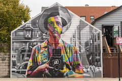 Ms. Vivian Maier, street photographer extraordinaire (sniggie) Tags: chicago illinois wickerpark mural muralisteduardokobra vivianmaier streetphotographer