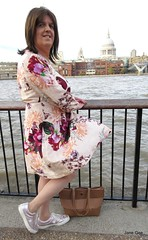 Iconic view (janegeetgirl2) Tags: transvestite crossdresser crossdressing tgirl tv ts trans outside london dress outdoors sightseeing wrap converse shoes st pauls cathedral
