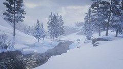 Waiting To Thaw (nicksoptima) Tags: winter wilderness deer river ps4 rockstar red dead redemption 2 screenshot