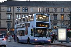 First Glasgow LK03 NHD (32301) | Route 3 | Dumbarton Rd, Partick (Strathclyder) Tags: first glasgow firstglasgow volvo b7tl plaxton transbus president lk03 nha lk03nha 32301 dumbarton road partick scotland olympialivery scotstoun dv218 firstlondon firstcentrewest vtl1301 vnl32301