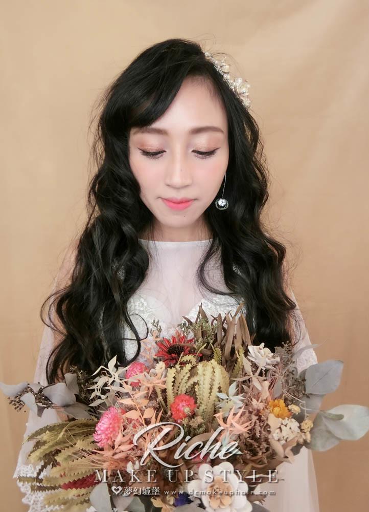 【新秘RICHE】新娘造型創作 / 浪漫大捲