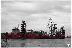 the red seven (Johannes Haupt) Tags: hafenportrait schiff hafen rot schwarz weis industrie werft dock wasser ostsee danzig tschechien portportrait ship harbor red black white industry shipyard water balticsea gdansk czechrepublic
