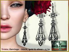 Bliensen - Trista - Earrings (Plurabelle Laszlo of Bliensen + MaiTai) Tags: earrings jewelry bliensen sl secondlife goth gothic retro victorian vintagejewelry vampire darkvictoriana
