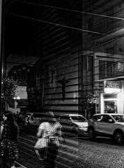 Behind the cross (Giovamilo_90) Tags: street streetph streetphotography streetview streetphoto streetphotographer monocromatic monocromo monochrome monocrome blackandwhite biancoenero bw black bianconero bn bianco nero