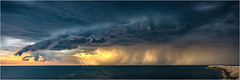 Storm front over Coogee (beninfreo) Tags: storm fremantle coogeebeach westernaustralia wa perth lightning weather canon5dmarkiv sunbeam sunray ray sunset
