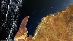 Carnarvon Basin, Western Australia (DMCii) Tags: airbusdefenceandspace country dmc dmcii gis hd images satellite satellitedata satellitephoto uk2 ukdmc2 dmciisuppliessatelliteimageryproductsandservicestoawiderangeofinternationalcustomersfromauniqueconstellationofsatellitesforagriculture forestry mappingandmanymoremarketstoseemoresatelliteimagesyoucanvisitouronlinecatalogueatahrefhttpcataloguedmciicomrelnofollowcataloguedmciicomadmcconstellation ukdmc2image©2018airbusds carnarvonbasin westernaustralia australia ogm oil gas mining landscape nir nearinfrared keypetroliumsource oilfieldsandgasfields
