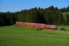 218 424-0 DB, Lengenwang Frödenberg (3643) (CNL 482) Tags: könig ludwig allgäu ostallgäu füssen regionalverkehr doppelstockwagen 218 d750 nikon db