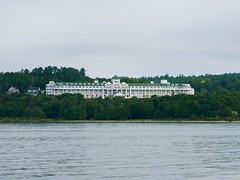 Grand Hotel (ekelly80) Tags: michigan mackinawcity mackinacisland summer august2018 ferry boat lakehuron lakemichigan starlines view grandhotel hotel lake water
