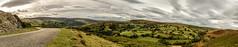 _DSC3559-354-334 (SteveKenilworth2014) Tags: glyndyfrdwy llangollen dinas bran valley wales denbishire panorama bw black white sheep farmland mountains mountain castle river dee countryside country lane clouds