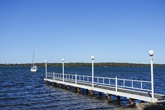 Small Jetty (oz_lightning) Tags: australia manneringpark nsw newcastle sonyrx100iii boats lake landscape nature pier seascape water newsouthwales aus