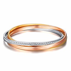 MYJS Trinity 3 Gold Plated Interlocking Bangle Bracelet with Clear Swarovski Crystals (katalaynet) Tags: follow happy me fun photooftheday beautiful love friends