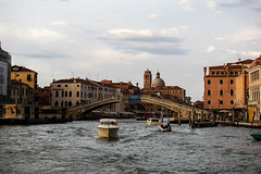 Venice at dusk (Blacklili) Tags: venezia boats bridge dusk italia buildings sky water sailing art architecture