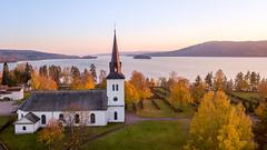 Lysvik. (ba7b0y) Tags: lysvik värmland sunne mavic pro drone dji church sunset fryken