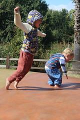 Leaping (quinn.anya) Tags: sam paul toddler kindergartener jumpingpillow jellystonepark