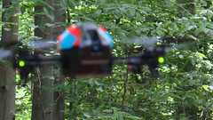 I'm not ready for my close-up... (Coyoty) Tags: wickhampark manchester connecticut ct park trees woods forest drone flying blurry blur blue red green focus nature newengland scenic aircraft closeup bokeh black