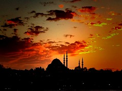 Istanbul (maryduniants) Tags: silhouette mosque turkey sunset clouds redsky istanbul