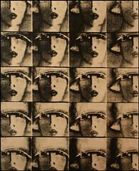 Portrait de femme (Antonio's darkroom) Tags: 20 pinhole 4x5 lf ilford fp4 pyrocathd fota fomabrom variant 123 lith moersch e omega artdeco timmers portrait painting