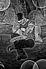 Whats Right...whats its Wrong (xXTWOXx) Tags: secondlife sl black white alone missing think