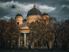 Transformation Cathedral (rsvatox) Tags: autumn colours dark trees sailntpetersburg cityscape buidings sky architecture clouds