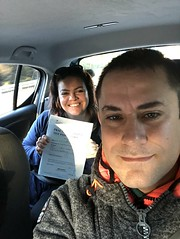 Massive congratulations  to T Cristina Goodacre for passing her driving test on her first attempt with only one minor fault!   www.leosdrivingschool.com