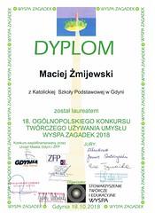 Maciek Żmijewski - laureat konkursu Wyspa Zagadek