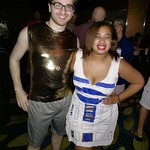 "C3PO and R2D2 at DragonCon <a style=""margin-left:10px; font-size:0.8em;"" href=""http://www.flickr.com/photos/124699639@N08/45572241212/"" target=""_blank"">@flickr</a>"