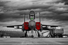 "494th FS ""Bleed Red"" (Nigel Blake, 17 MILLION views! Many thanks!) Tags: bleedred weareliberty panthers 494th raflakenheath mcdonnelldouglas boeing f15e strikeeagle 910313 nigelblakephotography nigelblake usafe usaf"