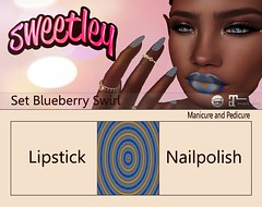 Sweetley - Set Blueberry Swirl add (Sweetley SL) Tags: sweetley catwa maitreya hud applier bento mesh sl secondlife original copyrighted newrelease style makeup lipstick nails nailpolish