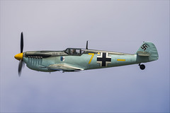 Hispano HA-1112-M1L Buchon - 01 (NickJ 1972) Tags: cosby victory show airshow 2018 aviation hispano messerschmitt ha1112 bf109 me109 buchon gawhm yellow 7
