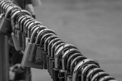 In a Row (noname_clark) Tags: salzburg austria vacation europe fence salzachriver water river lock many