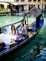 wedding boat (khrawlings) Tags: wedding bride groom couple gondola gondolier venice italy boat