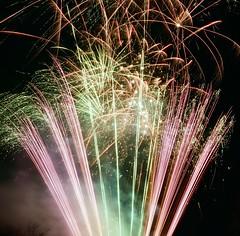 Croxley Park fireworks (PetePhoto61) Tags: yashica yashica635 tlr kodak portra portra400 croxley croxleypark fireworks film 400nc
