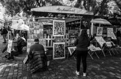 Montmartre / Монмартр (dmilokt) Tags: город city town пейзаж landscape улица street dmilokt чб bw черный белый black white
