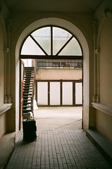 Prague airbnb (zuziawie) Tags: minolta himatic g 35mm 35 film analogue analog europe house home shadow building travel journey