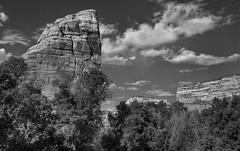 Steamboat Rock (arbyreed) Tags: arbyreed monochrome bw blackandwhite landscape landscapeinblackandwhite monochromelandscape rock stone steamboatrock greenriver yampariver echopark