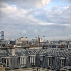 Roofs II (marc.barrot) Tags: roof am cloudy urban landscape paris 75017 france grey blue ivory pale
