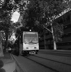 Light Rail Car 3 (Scott Micciche) Tags: hasselblad 500cm kodakfilm madewithkodak trix 50mm distagon expiredfilm