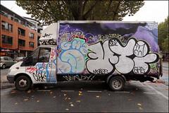 Hotdog / Make / Time (Alex Ellison) Tags: hotdog ghz make time osv boxtruck eastlondon throwup throwie urban graffiti graff boobs