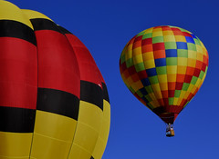 She's a Rainbow (oybay©) Tags: albuquerqueballoonfestival albuquerque newmexico balloon balloonfestival festival somethingelse color colors colorful vibrant hotairballoons sky blue best